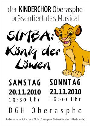 Werbung für unser Musical 2010